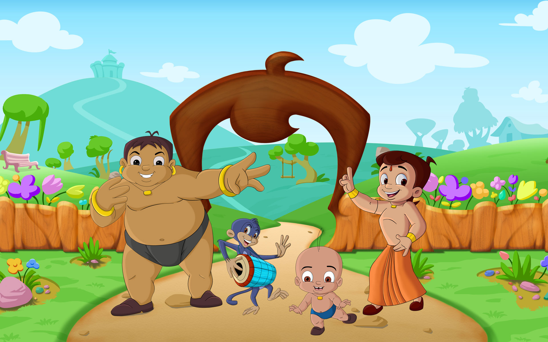 Chota Bheem Cartoon Pictures Wallpaper Hd Images And Photos